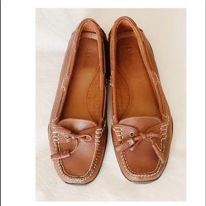 L.L.Bean Women's Leather Driver Shoes Brown 10